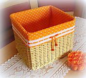 Košíky - Košík - mandarínka - 6877775_