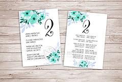 Papiernictvo - Kompletný Svadobný balíček 7+1 - Mentolový (pay&download) - 6877693_
