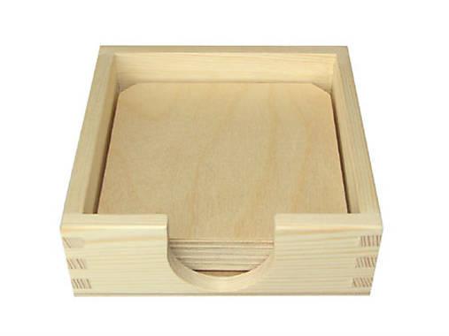 Krabička+6 podkladov pod poháre, ihneď