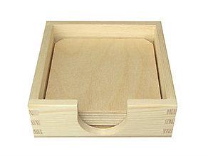 Polotovary - Krabička+6 podkladov pod poháre, ihneď - 6880159_