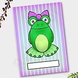 Papiernictvo - Žabí zápisník (pásiky (ona)) - 6879393_