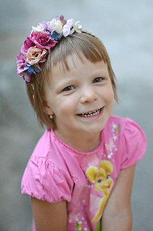 Ozdoby do vlasov - Ružová princezná - 6882118_