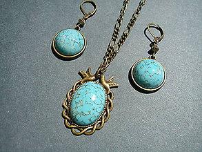 Sady šperkov - Sada šperkov - tyrkysový Matrix - 6881437_