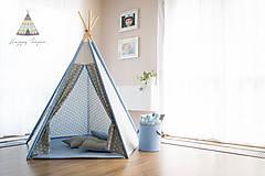 Detské doplnky - Teepee star BLUE - 6881745_