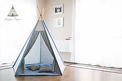 Detské doplnky - Teepee star BLUE - 6881854_