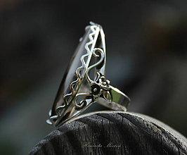 Prstene - strieborný prsteň s achátom (Etno) - 6882255_