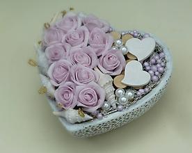 Dekorácie - Šípové ruže v srdci - 6884397_