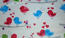 Textil - Zaľúbené vtáčiky - 6883747_