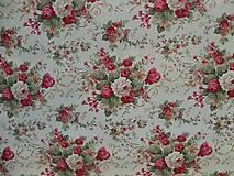 Textil - Impregnovaná látka - kvety cena za 10 cm - 6884329_