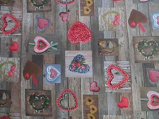Impregnovaná látka srdcia - cena za 10 cm