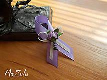 Pierka - vintage svadobné pierko fialové II. - 6882944_
