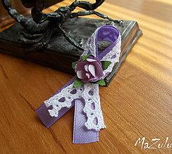 Pierka - vintage svadobné pierko fialové - 6882918_