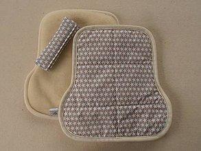 Textil - Podložka do auta na sedadlo pre deti celoročná Hviezdička francúzska - 6885454_
