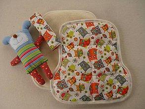 Textil - Sovičková podložka do auta na sedadlo pre deti celoročná - 6885550_
