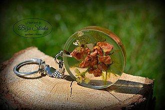 Kľúčenky - Kľúčenka Oranžový kameň (1944 A) - 6883879_