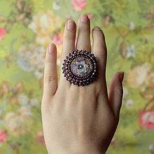 Prstene - Bayan ring  - vyšívaný prsten - 6883478_