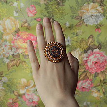 Prstene - Bayan ring n.2  - vyšívaný prsten - 6883493_