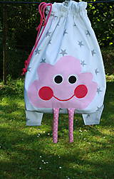 Detské tašky - Ruksak, batôžtek ružový mráčik - 6884359_