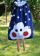 Detské tašky - Ruksak, batôžtek modrý mráčik - 6884392_