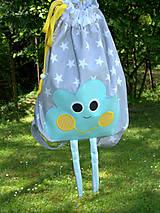 Detské tašky - Ruksak, batôžtek mentolkový mráčik - 6884407_