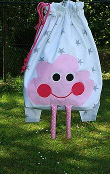 Detské tašky - Ruksak, batôžtek ružový mráčik 35X27 - 6884359_