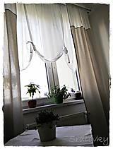 Úžitkový textil - Záves a záclonka v Natur šýle - 6883703_