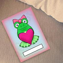 Papiernictvo - Žabí zápisník (zamilovaná) - 6883586_