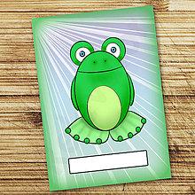 Papiernictvo - Žabí zápisník (lúče (holý)) - 6885615_