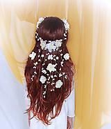 Ozdoby do vlasov - Emmkin sviatočný venček, typ 52 ivory - 6887073_