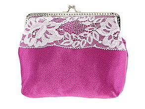 Kabelky - Dámská čipková kabelka bielo růžová 05L - 6889201_
