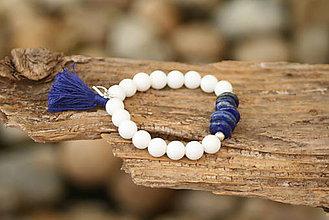 Náramky - Náramok jadeit a lapis lazuli - 6888855_
