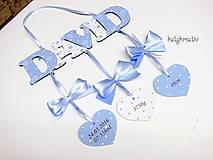 Tabuľky - menovka k narodeniu dieťatka... - 6887067_