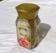 Nádoby - Dóza Vintage Nr.2 - 6888149_