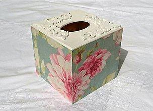 """Krabičky - Box na vreckovky """"Vintage Flowers"""" - 6888208_"""