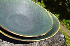 Nádoby - Misa zelená medienková