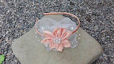 Ozdoby do vlasov - Čelenka s broskyňovým kvetom - 6889020_