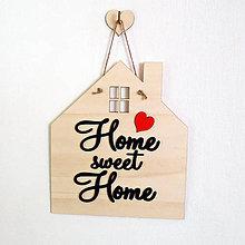 Dekorácie - Dekoračná tabuľka na stenu Home Sweet Home - 6888391_