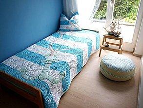 Úžitkový textil - Námornícky prehoz na jednolôžko - 6889003_