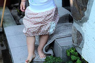 Detské oblečenie - Letná puff suknička s vtáčikom - 6888095_