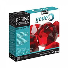 Suroviny - Krištálová živica Gedeo farebná Ruby Red 150 ml - 6886367_