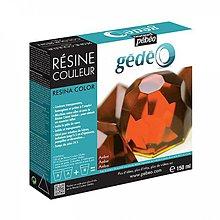 Suroviny - Krištálová živica Gedeo farebná Amber 150 ml - 6886372_