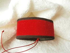 Náramky - Náramok koženo-textilný, čert prvý - 6886156_