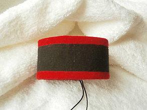 Náramky - Náramok koženo-textilný, čert druhý - 6886160_