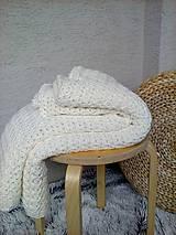 Úžitkový textil - Háčkovaná deka, prehoz - 6886886_