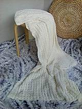 Úžitkový textil - Háčkovaná deka, prehoz - 6886888_