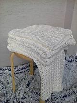 Úžitkový textil - Háčkovaná deka, prehoz - 6886890_