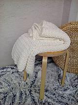 Úžitkový textil - Háčkovaná deka, prehoz - 6886894_