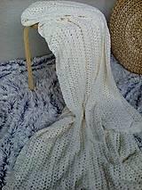 Úžitkový textil - Háčkovaná deka, prehoz - 6886895_