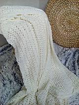 Úžitkový textil - Háčkovaná deka, prehoz - 6886896_