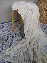 Úžitkový textil - Háčkovaná deka, prehoz - 6886897_